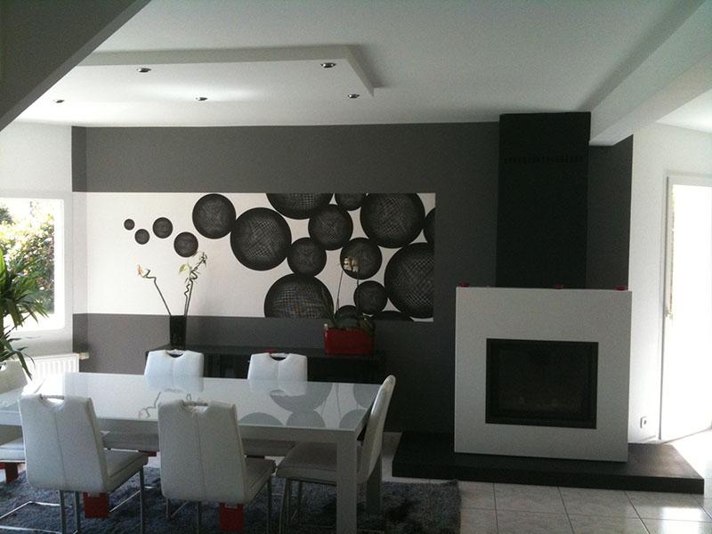 R alisations travaux peinture revetement de sol et mur ravalement de fa ade - Idee peinture sejour ...