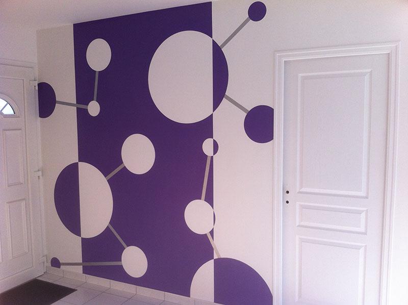 R alisations travaux peinture revetement de sol et mur for Peinture hall entree